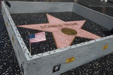 Muro, contra, Donald, Trump