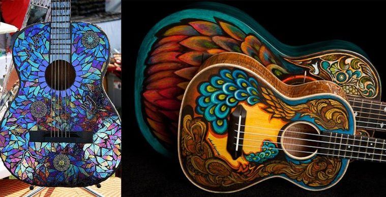guitarra, lienzo, pintura, musica, arte, watt
