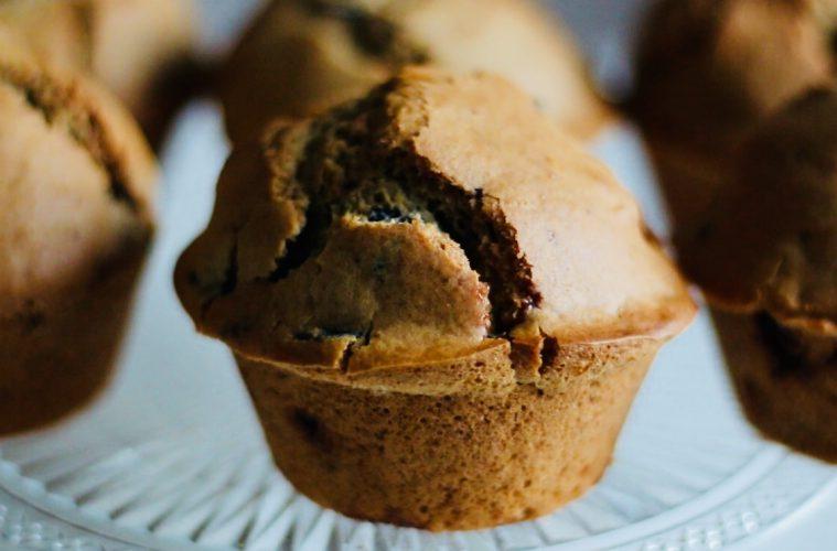 Muffins de arándanos sin gluten